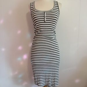 Active USA striped fitted sleeveless dress size m